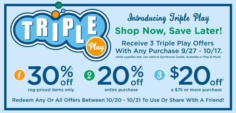 Gymboree Childrens Clothing Triple Play
