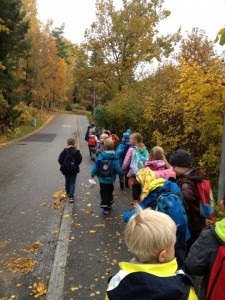 Natalie Grade 1 class going on a field trip to the forest.